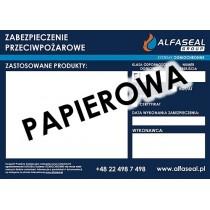 Etykieta informacyjna do oznaczania przepustów ALFASEAL papierowa samoprzylepna