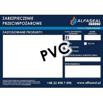 Etykieta informacyjna PCV do oznaczania przepustów ALFASEAL