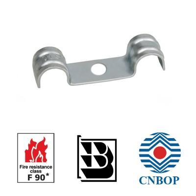 Uchwyt stalowy podwójny DF do kabli pożarowych CNBOP E90