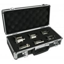 Zestaw 6 szt. otwornic diamentowych VACUUM w walizce
