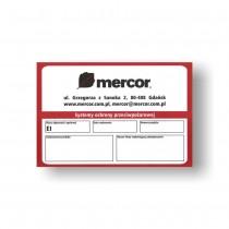 Etykieta znamionowa Mercor PCV