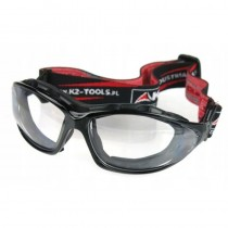 Okulary ochronne UV gogle budowlane 2w1z etui INDUSTRY