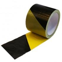 Taśma ostrzegawcza czarno-żółta