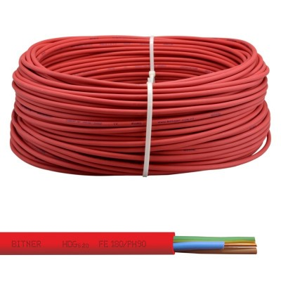 Kabel HDGsżo FE180/PH90/E90 3x4,0 300/500V ognioodporny, bezhalogenowy przewód elektroenergetyczny, 300/500V