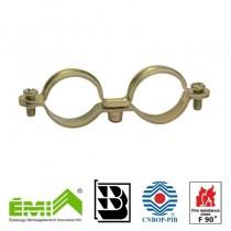 Metalowa podwójna obejma typ LD do instalacji z aprobatą CNBOP (E90)