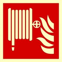 Hydrant wewnętrzny - znak przeciwpożarowy ISO 7010 (płyta świecąca)