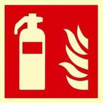 Gaśnica - znak przeciwpożarowy ISO 7010 (płyta świecąca)