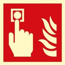 Alarm pożarowy (uruchamianie ręczne) ROP - znak przeciwpożarowy ISO 7010 (płyta świecąca)
