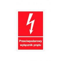 Przeciwpożarowy wyłącznik prądu - znak przeciwpożarowy (mała)