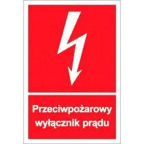 Przeciwpożarowy wyłącznik prądu - znak przeciwpożarowy