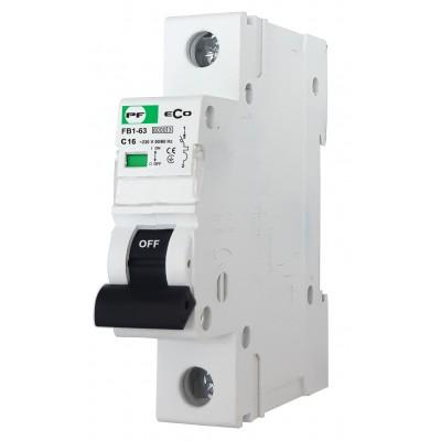 Wyłącznik nadprądowy ECO FB1-63 1P C 16A 6kA AC FB1C1016