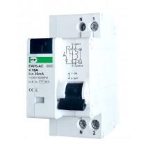 Wyłącznik różnicowoprądowy z członem nadprądowym FAP6 1P+N C 16A 30mA AC FAP06C16030AC