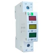 Lampka sygnalizacyjna modułowa 3 fazowa FMI czerwono-żółto-zielona 230V AC FMI3230