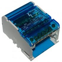 Blok rozdzielczy 125A 4P 7-zaciskowy 20kA 500V na szynę TH35 BTF407