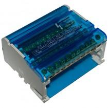 Blok rozdzielczy 125A 4P 11-zaciskowy 20kA 500V na szynę TH35 BTF411