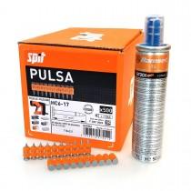 Gwoździe wzmocnione HC6 z gazem PULSA 800 do betonu i stali