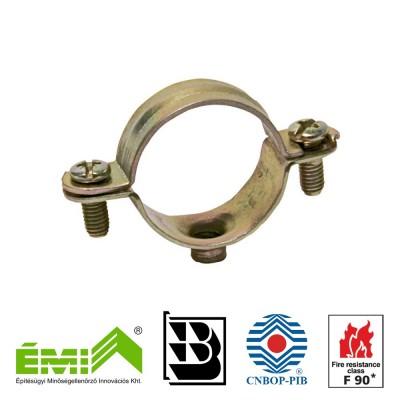 Metalowa obejma typ L do instalacji z aprobatą CNBOP (E90)